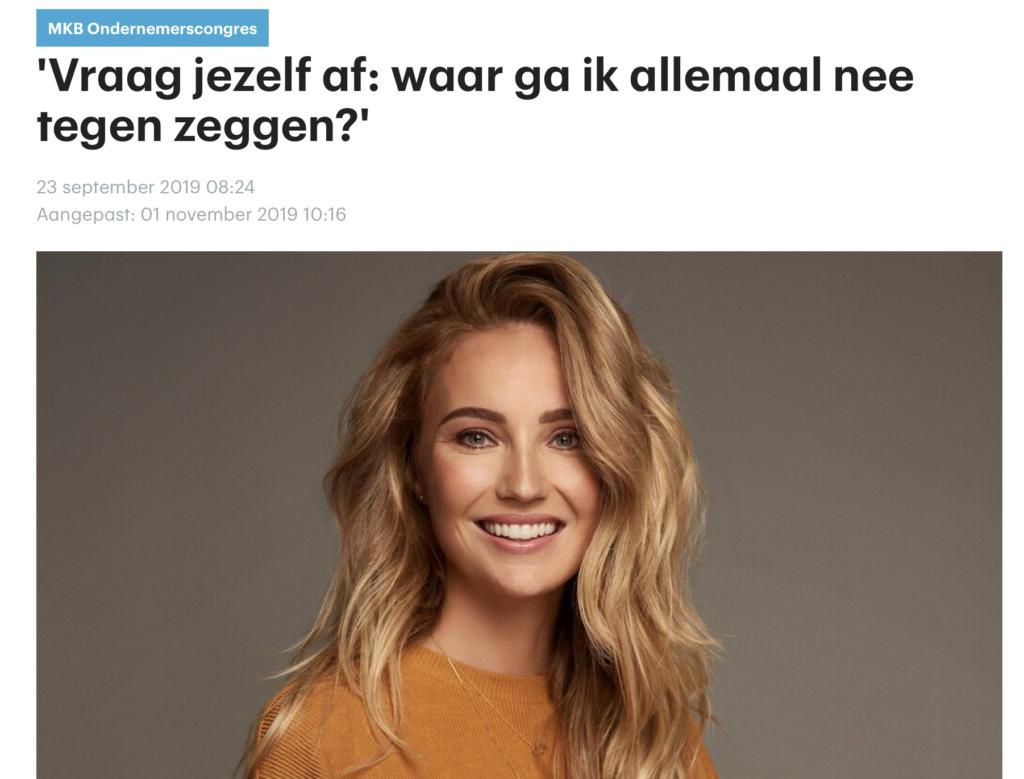 Kelly Weekers RTL Nieuws MKB ondernemerscongres